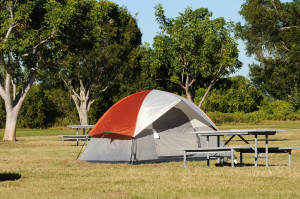 Tent On A Campsite